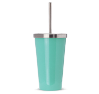 Seafoam Stainless Cup with Straw