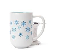 White Snowflakes Nordic Mug