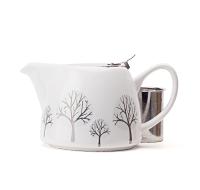 Snowy Trees Stout Teapot