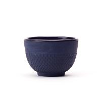 Cast Iron Teacup Blue Hobnail