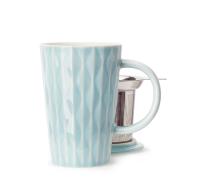 Crystal Blue Textured Perfect Mug