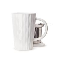 White Textured Perfect Mug