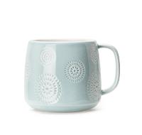 Crystal Blue Embossed Latte Mug