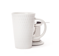 White Seed Textured Perfect Mug