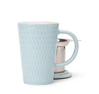 Sky blue textured perfect mug