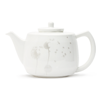 Silver Dandelion Bone China Teapot
