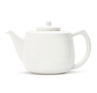 White Bone China Teapot