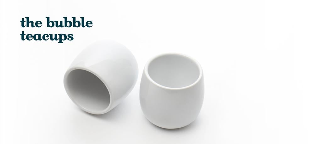white bubble teacups