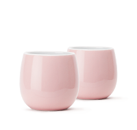 Frosted Pink Bubble Teacups