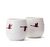 White Geese Bubble Teacups