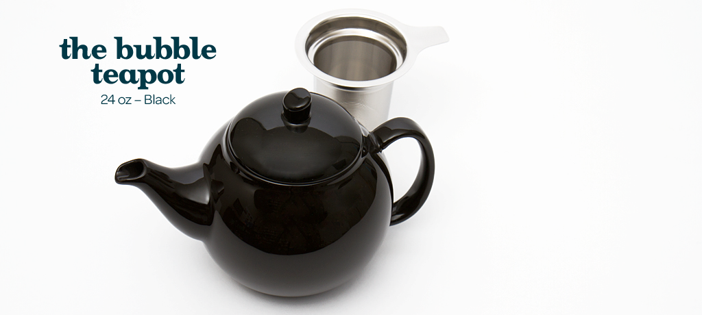 black bubble teapot (24oz)