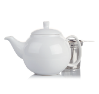 white bubble teapot (24oz)