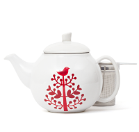 Red Tree Bubble Teapot (24 oz)