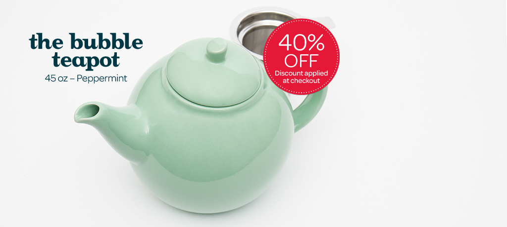 peppermint bubble teapot (45oz)