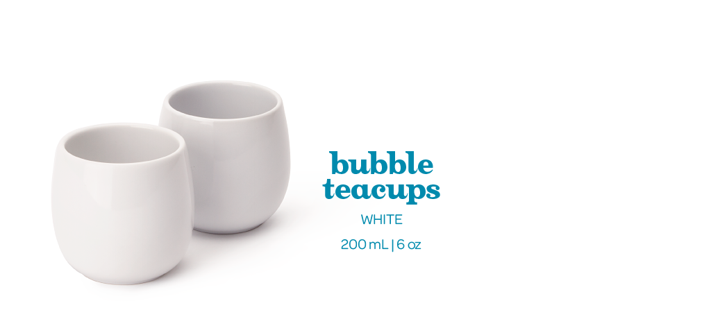 white bubble teacups