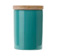Teal Ceramic Tea Storage
