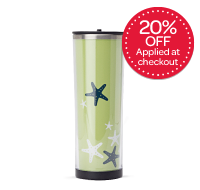 Lime Starfish Stainless Tumbler