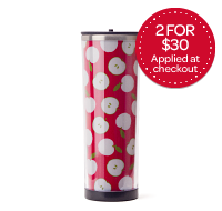Red Apples Stainless Tumbler