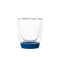 Blue Glass and Silicone Cup