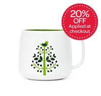 Green Tree Latte Mug