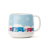 Snowy Village Tea Latte Mug