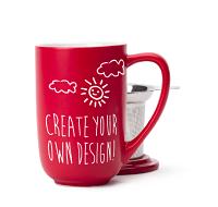 Red Customizable Nordic Mug