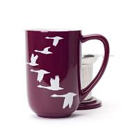 Burgundy Geese Nordic Mug