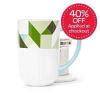 Green Geometric Nordic Mug