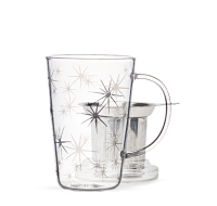 Silver Starburst Glass Perfect Mug