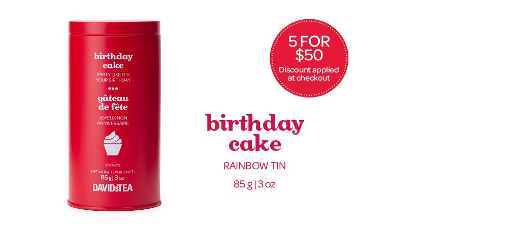 Birthday cake rainbow tin