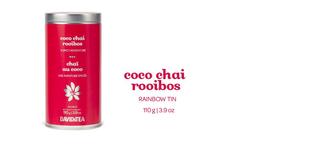 Coco chai rooibos rainbow tin