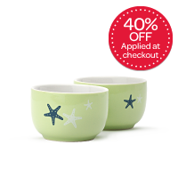 Lime Starfish Stout Teacups