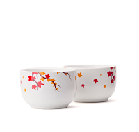Multicolour Leaves Stout Teacups