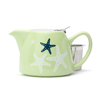 Lime Starfish Stout Teapot