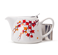 Multicolour Leaves Stout Teapot